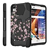 Untouchble Compatible with LG Tribute HD Hard Case| LG X Style Case, LG Volt 3 Case [Traveler Series] Shock Absorbing Drop Protection Dual Layer Case - Pink Cherry Blossoms