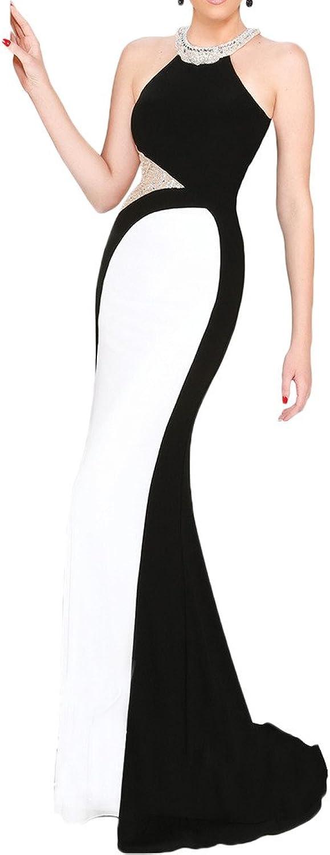 Avril Dress Sexy Sheath Halter Court Backless Prom Evening Dress SeeThrough