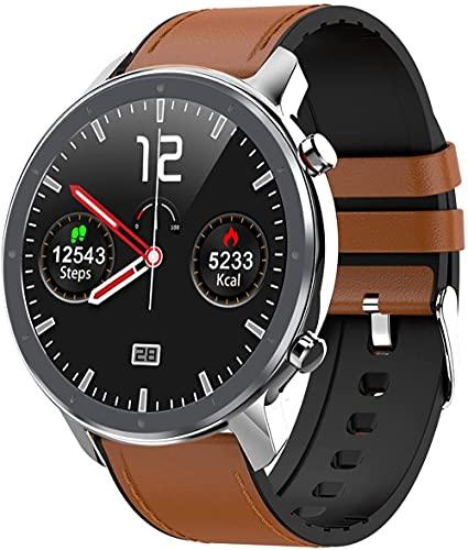 hwbq Reloj inteligente fitness tracker con monitor de oxígeno en sangre IP67 impermeable reloj inteligente fitness reloj hombres y mujeres reloj inteligente marrón e