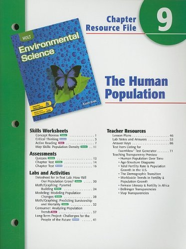 Holt Environmental Science Chapter 9 Resource File: The Human Population