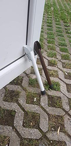 Brown Spring Door Stop 300mm / 12' Metal Drivway Gate Stopper Garage Door Holder