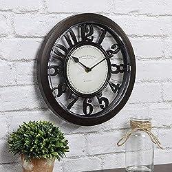 FirsTime & Co. Bronze Contour Wall Clock, 10