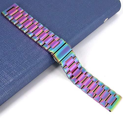 18mm 22mm 20 mm banda de 24 mm para Samsung Galaxy Watch 42 46mm Galaxy Watch 3 45mm 41mm correas de acero inoxidable 10688 (Band Color : Color, Band Width : 18mm)