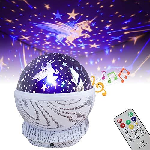 EXTSUD Proyector Estrellas Lámpara Proyector Infantil 360°Giratorio