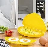 IGS Cocedor de huevos fritos, tortilla, para microondas