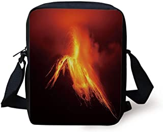2 Pack Luggage Tags Volcano Erupting Travel Tags For Travel Bag Suitcase Accessories