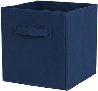 Tissu Panier Bin Boîtes De Rangement De Rangement Pliable Cubes Organisateur Avec Poignées Boîtes De Rangement Bleu