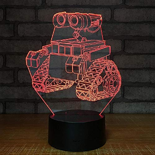 Creatieve tractor, creatief nachtlampje, interieur, 3D, kleurrijke noten-usb-lamp, kleurrijke romantische cadeaus voor kinderen en vrienden