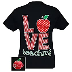 Girlie Girl Originals Love Teaching T-Shirt Black