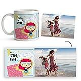 Fotoprix Taza Personalizada Día de la Madre | Regalo Super Mamá | Varios diseños Disponibles. (Diseño: Supermami)