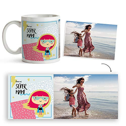 Fotoprix Taza Personalizada con Foto para Mamá | Regalo Original día de la Madre | Varios diseños Disponibles. (Diseño: Madre 5)