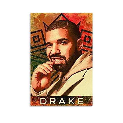 JINXUAN - Stampa artistica su tela raffigurante Aubrey Drake, celebre cantante famiglia e amici, stampa artistica da parete su tela moderna per la camera da letto della famiglia, 20 x 30 cm