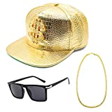 CHUANGLI Hip Hop Costume Kit Cool 80s/90s Rapper Outfits Accessories Snapback Baseball Cap...