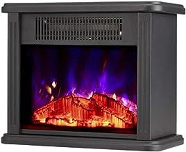 NANANA Eléctrica Fast Calefacción Chimenea Core, Moderno Calefactor de 2000 Vatios con Intenso Efecto de Leña Ardiendo para Hogar y Oficina, Calefactor Chimenea Eléctrico, 350x218x420 Mm,c