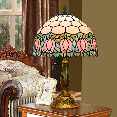 Tischlampe Tiffany Glasmalerei Europäische Kreativer Mediterraner Stil Rose Blume Wohnzimmer Schlafzimmer Nacht Bar Einfacher Club Dekoration Lampen Im Restaurant Zu Essen