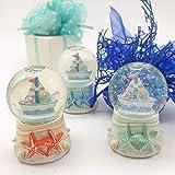 Ingrosso e Risparmio 3 bolas de cristal con nieve y purpurina, barcos y estrellas de mar de colores, bomboneras...