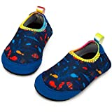 Yorgou Baby Strandschuhe Schwimmschuhe Badeschuhe Wasserschuhe Schnelltrocknende Aquaschuhe rutschfest Barfuss Schuh für Kinder Beach Pool, Ozean/Blau-1, 17/18 EU