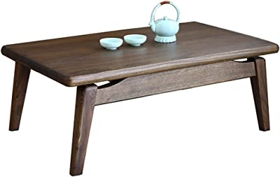 Solid Wood Table Living Room Low Table Bedroom Table Tea Table Balcony Table (Color : Brown, Size : 70x45x30cm)