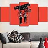 HQATPR Cuadros Salon Baratos 5 Unidades Canvas Art Wall Decor Music Twenty One Pilots Canvas Cartel de la Pared Impresiones Qradros Decor Red Picture Art
