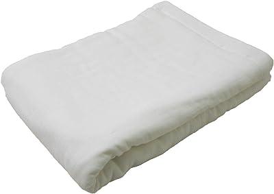 8重 ガーゼケット 綿100% ダブル 180x200cm やわらか 吸水 通気性 天然素材 (ホワイト)