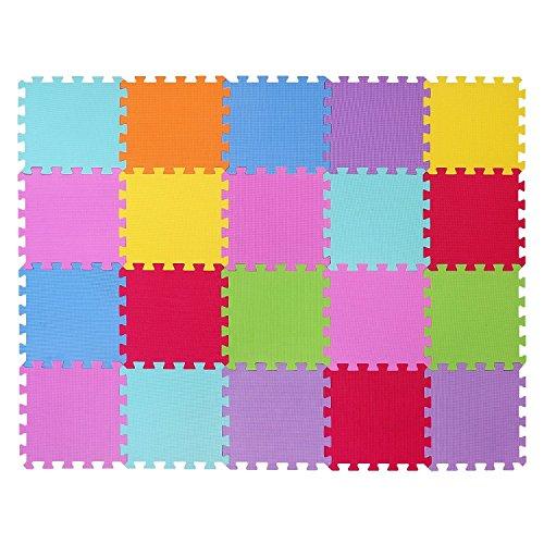 Alfombra puzzle de juego CIGIOKI goma eva modular de color 20 piezas 3