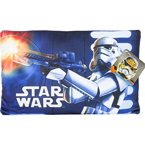Oreiller en polyester pour enfants et adultes pour lit, lit et canapé avec impression Star Wars Soldat Stormtrooper avec licence Disney.