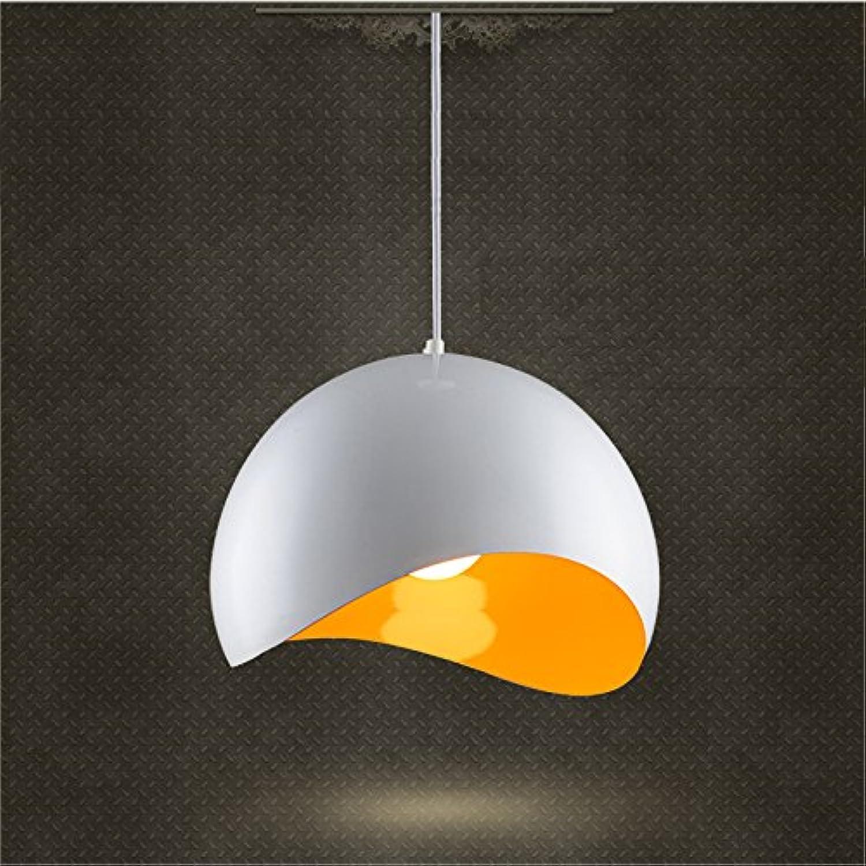XY&XH Kronleuchter,Retro Apple LED Pendelleuchte E27 Birnen-Sockel LED Restaurant Droplight, wei