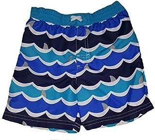 Toddler Boys Waves & Shark Fins All Over Blue Swim Short Trunk - 3T [並行輸入品]
