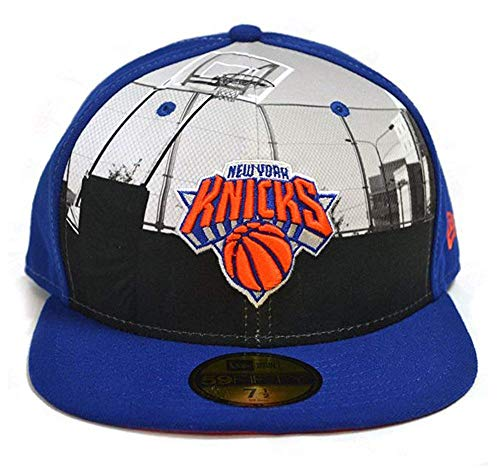 New Era 59 FIFTY Ronda Dway New York Knicks Nba Fitted soporte de Peak gorro de Cap Azul azul