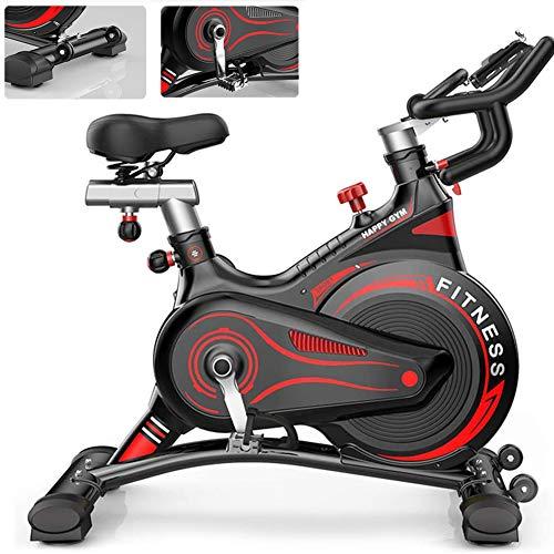 LCYZ Riemenantrieb Stationär Heimtrainer mit Einstellbarem Widerstand für Cardio Workout Bike Training zu Hause (Schwarz + Rot)