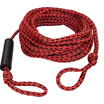 SGT KNOTS Tube Rope Braided Polypropylene Tube Tow Cord - 4 Rider Towable Tube Rope - 4,150 Pounds Breaking Strength - for Water Skiing, Wakeboarding, and Towsports