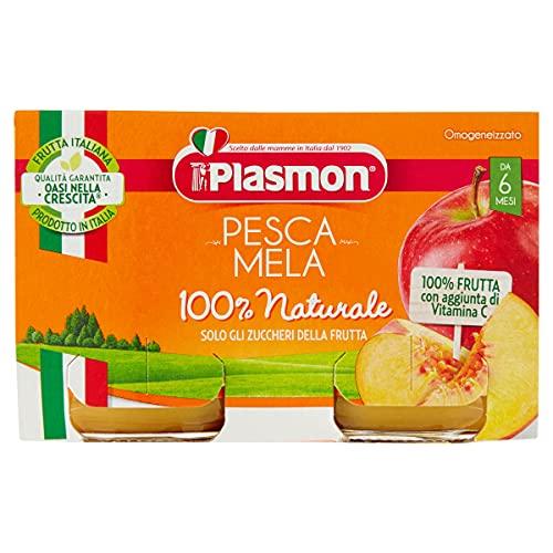 Plasmon Omogeneizzato Pesca Mela 24x104g