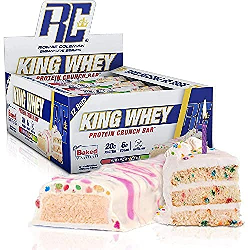 RCSS King Whey Protein Bar Eiweißriegel Proteinriegel Eiweiß Protein 20g Protein pro Riegel 12x57g (Birthday Cake)…