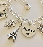 Paris Charm Bracelet, Paris Trip, Paris Lover, Paris Souvenir, School Year In Paris, Paris Memories, Parisian Life Charms, Paris Honeymoon. I Love Paris.