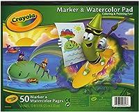 Crayola マーカーと水彩パッド 10 x 8インチ 50ページ 4本パック 99-3403