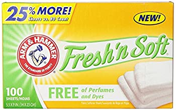 ARM & HAMMER Fabric Softener Sheets Free of Perfumes and Dyes 100 ct