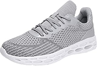 Men Solid Flat Bottom Sneakers, Male Outdoor Breathable Mesh Lightweight Fashion Running Shoes Sport Shoe