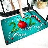 WELLXUNK® Navidad Antideslizante Felpudo, Alfombras de Decoración de Navidad Antideslizante y Absorbente, Alfombrillas Decorativas para el Salón el Baño la Cocina