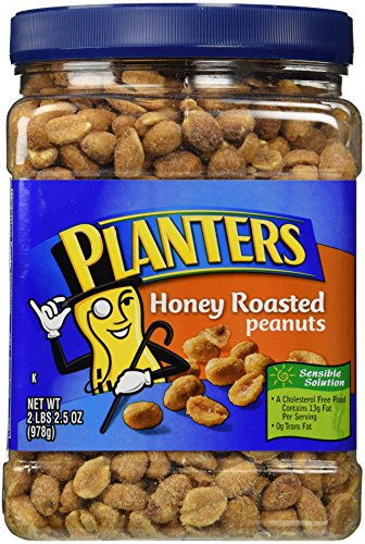 Planters Dry-Roasted Honey Peanuts, 2LBS 2.5oz, Tub