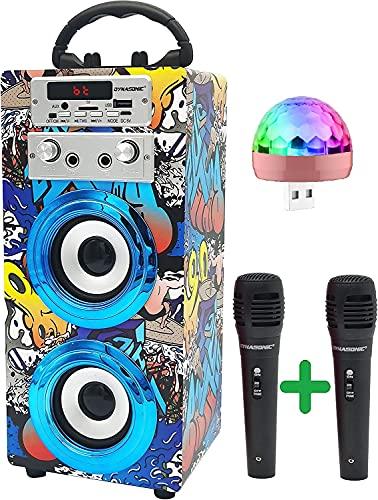 DYNASONIC (3º Generación Modelo 2021 Karaoke con microfono, Regalos Originales para niños niña, Juguetes niña (Luces Discoteca, Modelo 16)