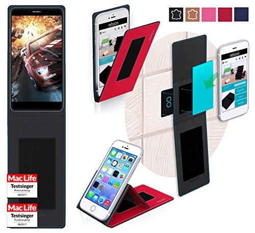 reboon Hülle für Bluboo Dual Tasche Cover Case Bumper | Rot | Testsieger