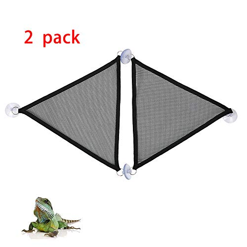 ZDJR 2 Paquetes de Malla Transpirable Reptil Hamaca, Juego de Accesorios para Dragones barbudos Grandes y pequeños Anole Geckos Lagartos o Serpientes, triángulo