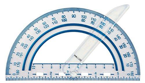 Fiskars Winkelmesser mit Schwinge, Plastik, Farben können variieren, 1-Pack