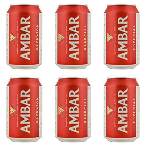 Ambar ESPECIAL Bier 5.2% Alkohol. Dosen 330 ml. bier dose, biere der welt, bier set, geschenke für männer, amstel bier (12 Dosen, 0.33 l)