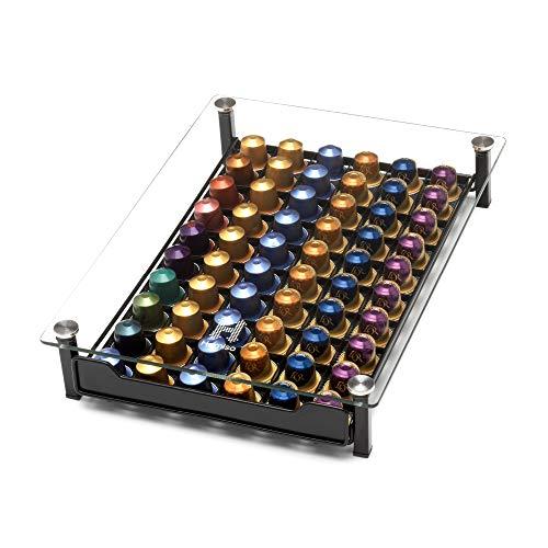 Dispensador de Cápsulas de Café Homiso – Compatible con Nespresso – Almacenamiento de cápsulas de café, 60x Cápsulas