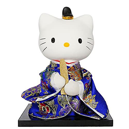KJWXSGMM Adornos de Gato Afortunado Mini Lindo Kimono japonés Adorno de Gato de la Boda Decoración de Regalo de Boda Adornos de Gato Afortunado, 18 cm,B