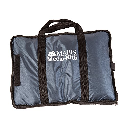 MABIS Medic-Kit5 EMT and Paramedic First Aid Kit with 5 Calibrated Nylon Blood Pressure Cuffs, Sizes Included: Large Adult, Adult, Child, Infant and Thigh, Blue