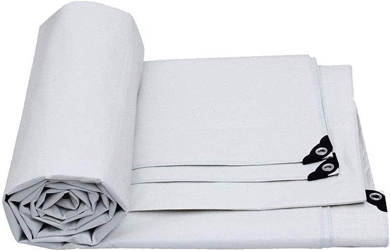 Tente Légère, Bache, Polyéthylène Haute Densité Tissé Et Double Stratifié - Tente de Prougeection Contre la Pluie, Bateau, Rv ou Piscine, Kejing Miao, blanc, 15 m × 10 m