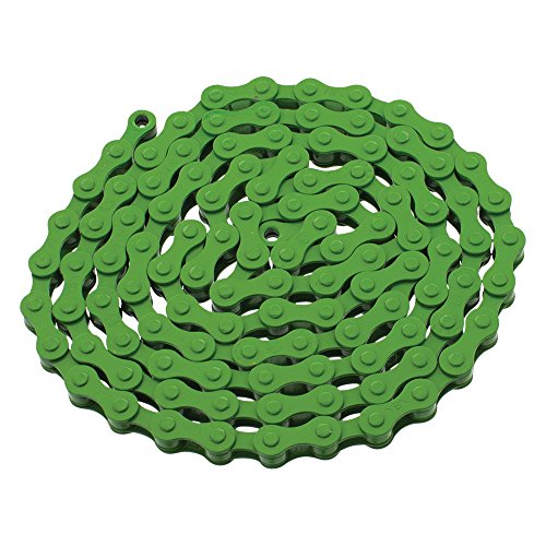 YBN S410 Bicycle Chain (1-Speed, 1/2 x 1/8-Inch, 112L) , Various Colors (Green)