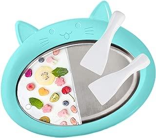 Mijaution Sweet Spot Instant Ice Cream Maker Rapid Freezing Yogurt Sorbet Gelato Children's Ice Cream Machine Fun & Engaging Toy (31x24cm, Blue)